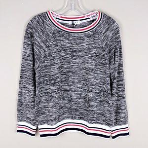 THML | Anthro Red Navy Striped Sweatshirt